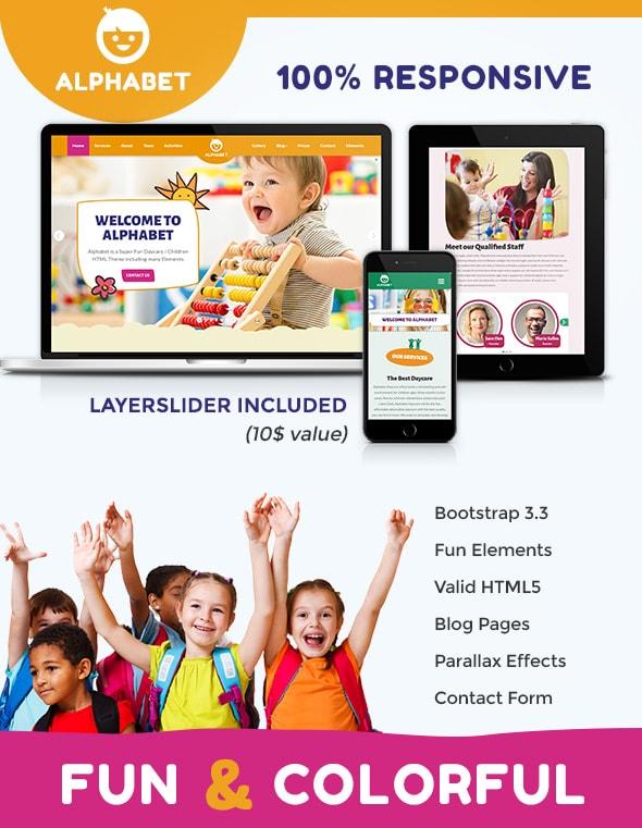 Alphabet - Daycare / School HTML5 - 2